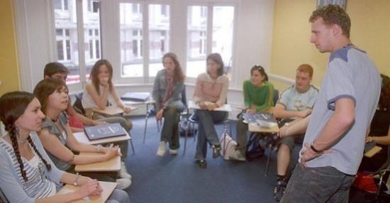 Fotografía de estudiantes aragoneses de la ESO en Canada